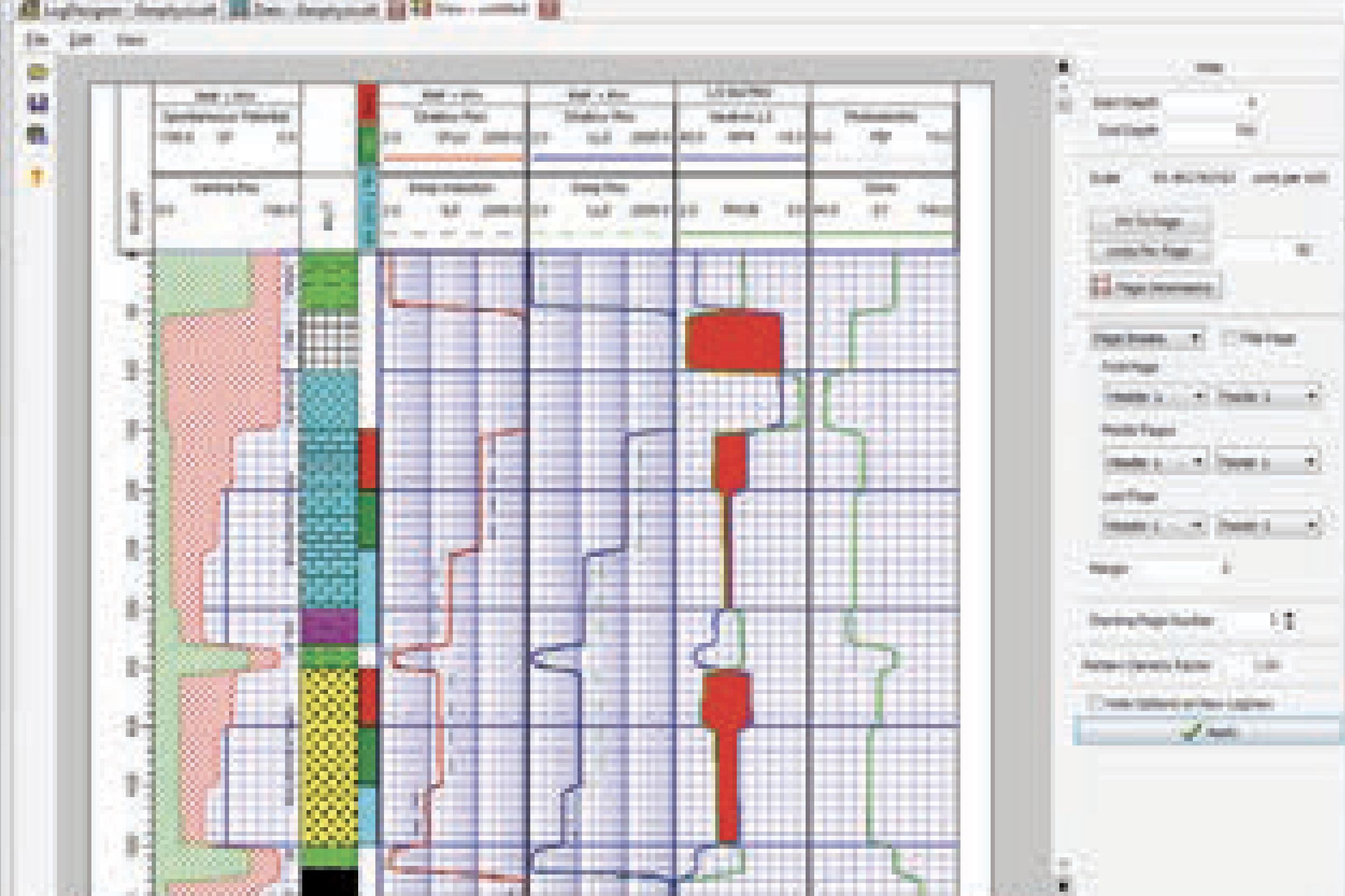Software para trazado de registros de pozo.